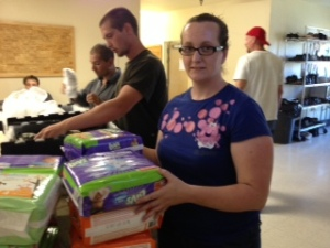 Item 51 IMAGE:  Host a diaper drive and donate the diapers to a diaper bank or homeless shelter. Take a picture of you delivering the diapers.
